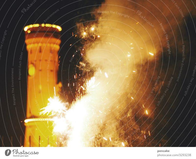 geräusche | lautmalerei Silvester Rakete Knall Feuer Feuerwerk Lindau Bodensee Hafen Nacht Funken Leuchtturm