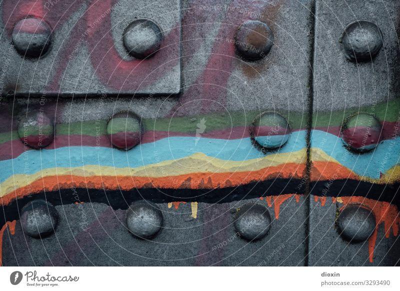 Town Colour Black Graffiti Art Bridge Steel Trashy Street art Work of art Varnish Subculture Steel construction Bridge pier