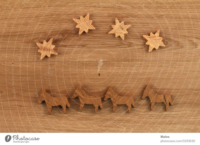 wooden figures Abstract Design Geometry Wood Insulation model Things Puzzle Playing Structures and shapes Toys Brown Star (Symbol) Horse plywood Figure