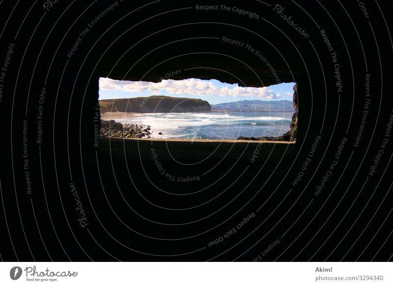 review Landscape Beautiful weather Waves Coast Beach Bay Ocean Island Curiosity Adventure Loneliness Discover Survive Surveillance Cave Hiding place Natural