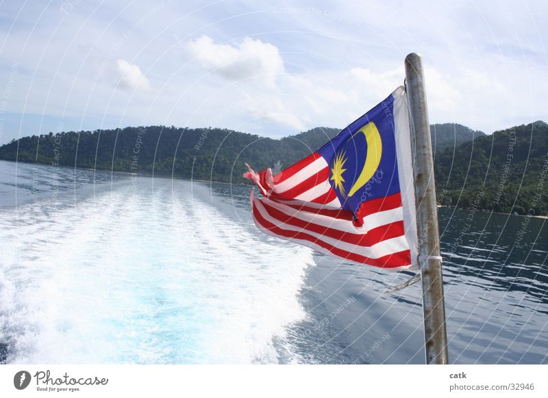 Ocean Beach Coast Watercraft Island Speed Driving Flag Navigation Aquatics Traffic lane Malaya Pulau Tioman