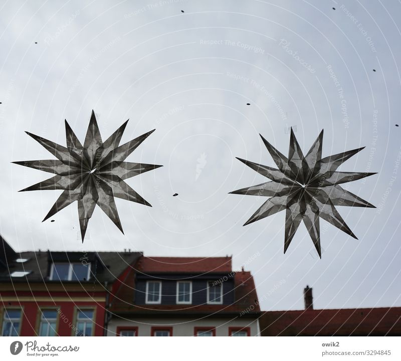 Christmas & Advent House (Residential Structure) Clouds Window Dark Wall (building) Germany Wall (barrier) Decoration In pairs Large Star (Symbol) Roof Downtown