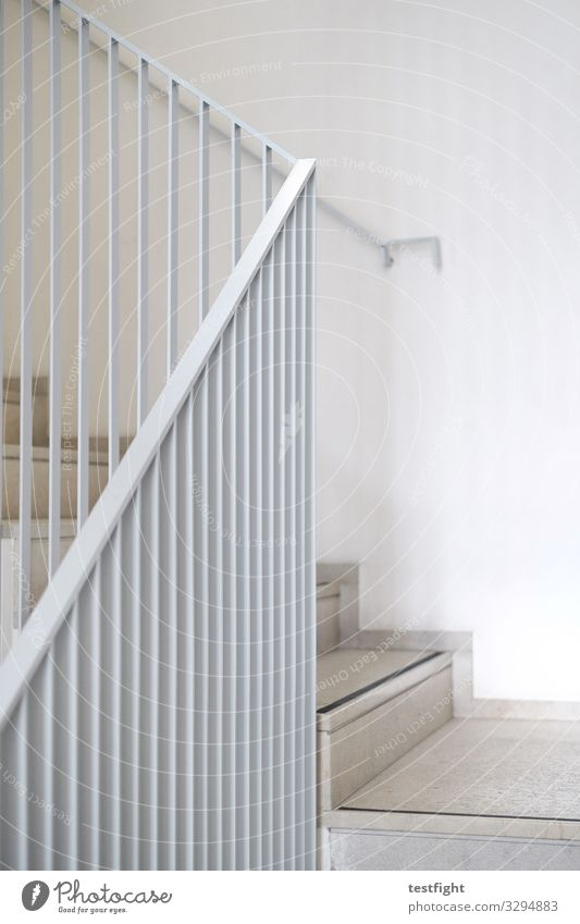 banister Stairs Gray Ascending during Stop Banister Colour photo Exterior shot Copy Space right