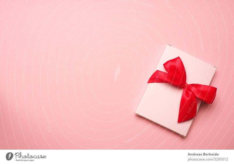 Valentines day background in pink Shopping Style Valentine's Day Wedding Birthday Packaging Decoration Bow Love Pink above abstract anniversary