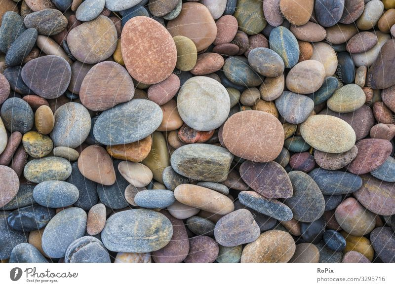 Pebble pattern on a scottish beach. Style Wellness Senses Relaxation Meditation Leisure and hobbies Vacation & Travel Tourism Beach Ocean Art Environment Nature