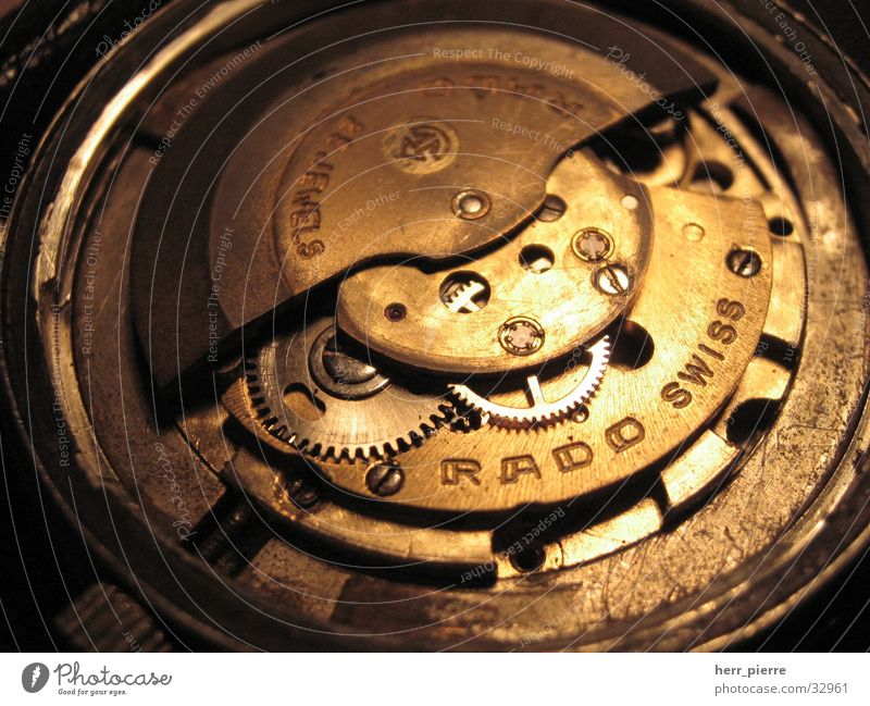 Old Technology Clock Gearwheel Work of art Scrap metal Mechanics Watch mechanism Electrical equipment Automatic