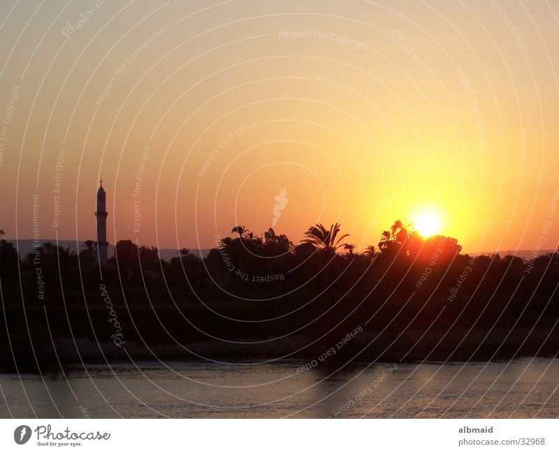 Egyptian Sunset - the Second Mosque Nile Vacation & Travel Contentment Dusk