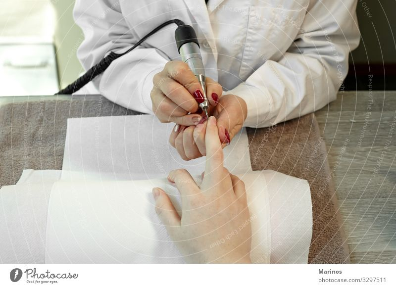 Finger nail care. Woman Human being Colour Beautiful Red Hand Adults Fingers Beauty Photography Fingernail Spa Medical treatment Manicure Client