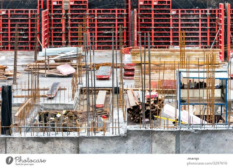 superstructure Construction site Craft (trade) Concrete Foundations Steel construction Build Concrete slab lines Civil engineering Construction worker Teamwork
