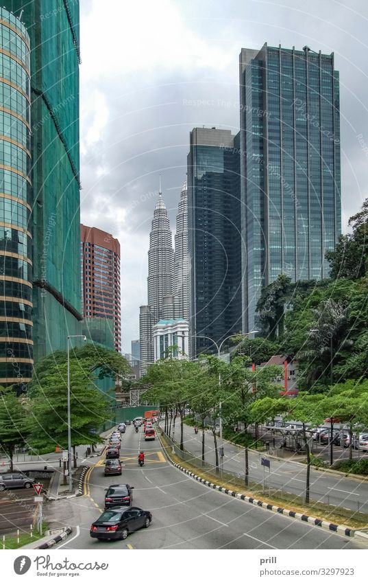 impression of Kuala Lumpur House (Residential Structure) Plant Tree Town Downtown High-rise Manmade structures Building Architecture Facade Transport Street