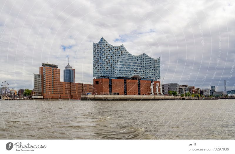 around Port of Hamburg Tourism Water Coast Brook River Town Port City Harbour Manmade structures Building Architecture Transport Authentic seaport