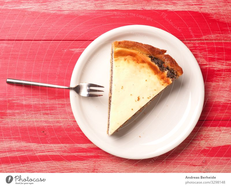 Tasty organic cheese cake with poppyseed Cake Dessert Restaurant Birthday Delicious Sweet Soft Yellow Background picture baked bakery black cheesecake cream