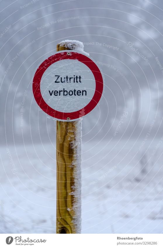 """No Entry"" sign Village Deserted Street Lanes & trails Wood Metal Sign Signs and labeling Signage Warning sign Shield Walking Red White Unwavering Fear"
