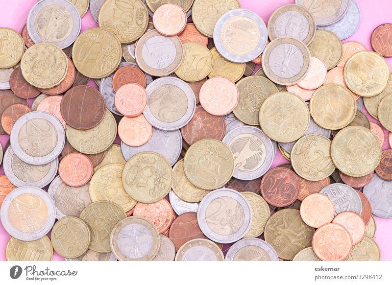 Geld Münzen Euro viel viel Geld Reichtum Finanzen Währung Business Wirtschaft Einkommen Gewinn Kapital Kosten Kredit viele verschiedene sparen Fonds Hartgeld