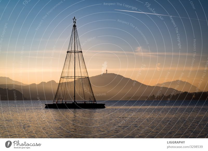 Evening mood and sunset at the Wörthersee. Luxury pretty Fishing (Angle) Sports Aquatics Cycling Swimming & Bathing Dive Bicycle Water Positive Blue Turquoise