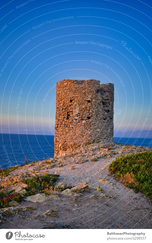 ruin by the sea Vacation & Travel Tourism Summer Summer vacation Sun Ocean Island Architecture Environment Nature Landscape Sand Water Sky Horizon