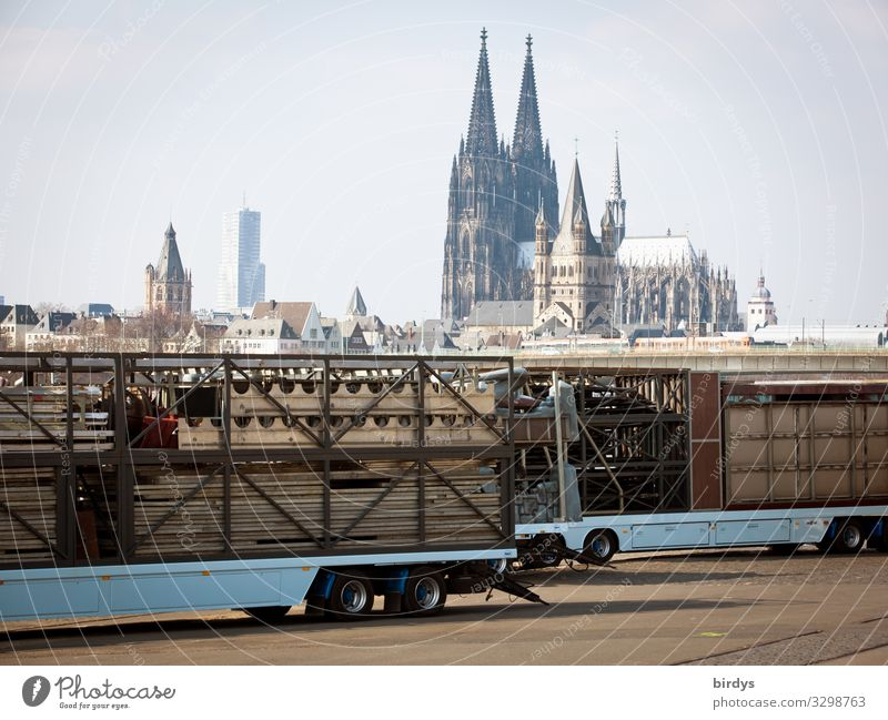 Cologne Fairs & Carnivals Sky Church Dome Tourist Attraction Landmark Cologne Cathedral Truck Trailer Authentic Positive Experience Religion and faith Culture
