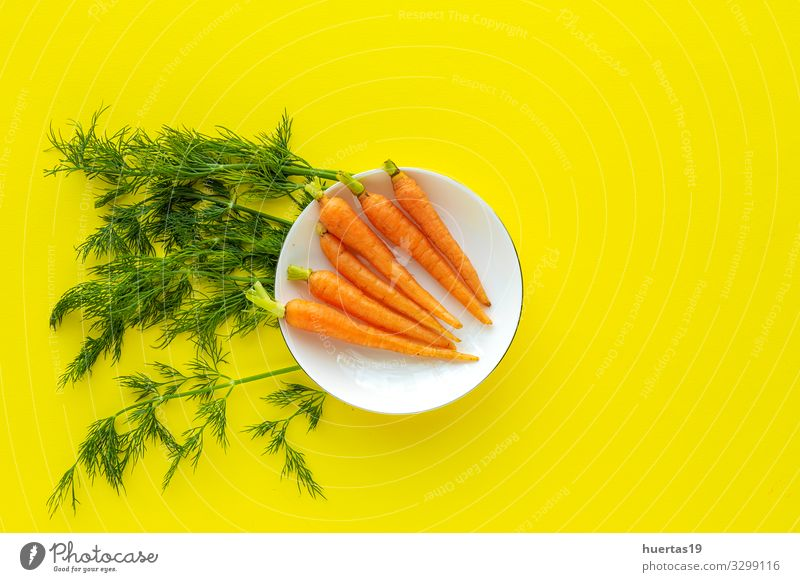 Delicious roasted carrots from above Food Vegetable Herbs and spices Lunch Dinner Vegetarian diet Diet Lifestyle Healthy Eating Fresh Natural Above Yellow