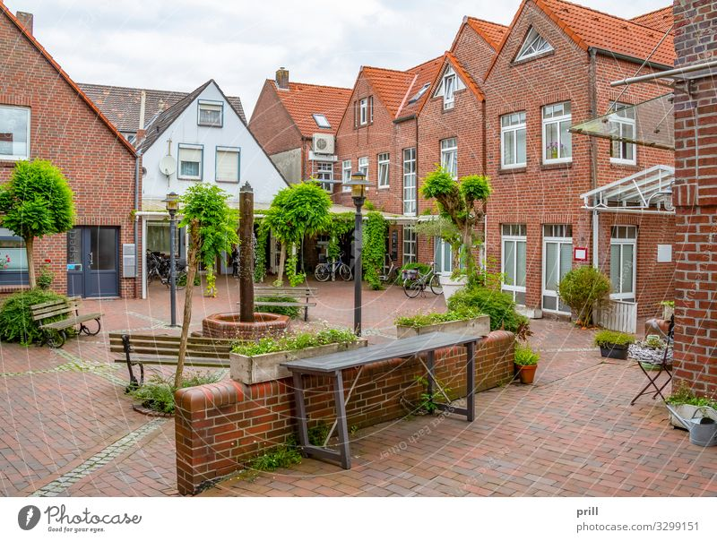 Jever in East Frisia House (Residential Structure) Gastronomy Culture Clouds Town Pedestrian precinct Manmade structures Building Architecture Facade Street
