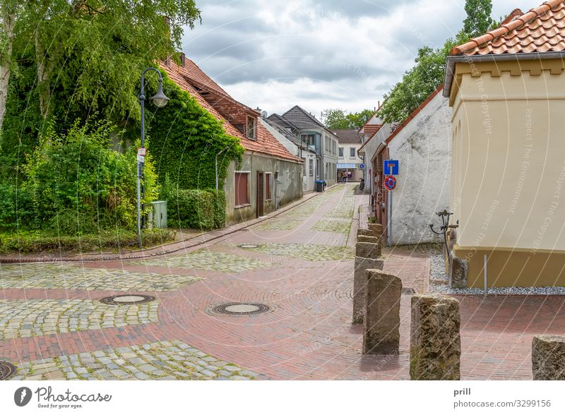 Jever in East Frisia House (Residential Structure) Culture Clouds Town Pedestrian precinct Manmade structures Building Architecture Facade Street Lanes & trails