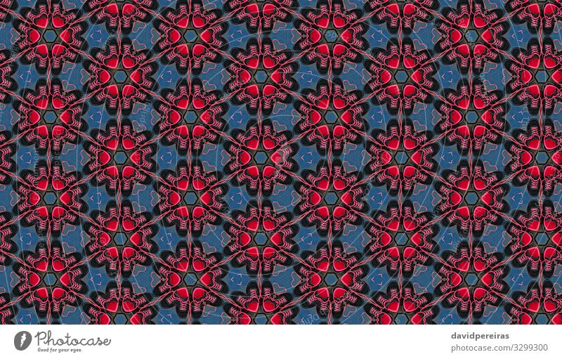 Kaleidoscope background with hearts and sneakers Design Decoration Art Fashion Footwear Sneakers Heart Red Colour Creativity Surrealism Symmetry