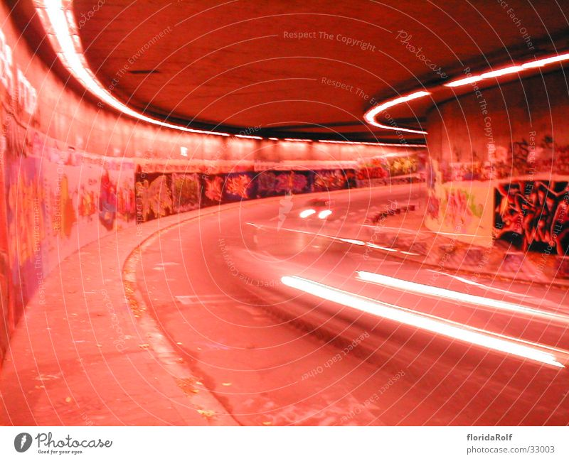 Car Graffiti Tunnel Bochum Photographic technology