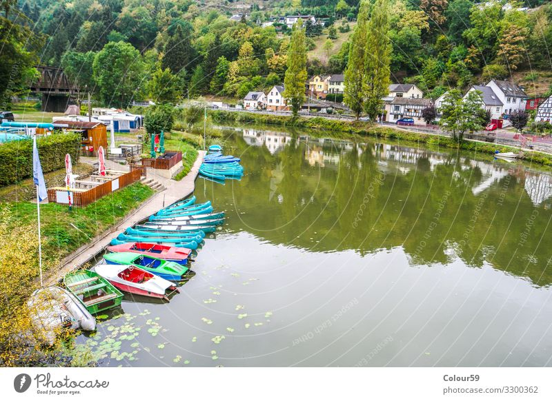 Boat rental on the Lahn Vacation & Travel Tourism Trip Adventure Camping Summer Summer vacation Canoe Watercraft Pedalo Nature Multicoloured Idyll Germany boats