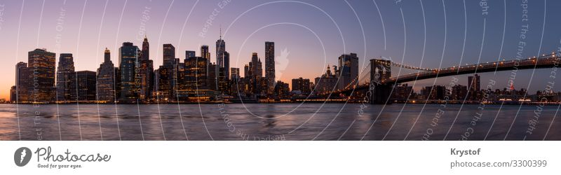 New York panorama Environment New York City USA North America Skyline House (Residential Structure) Architecture Esthetic Colour Town Colour photo Exterior shot