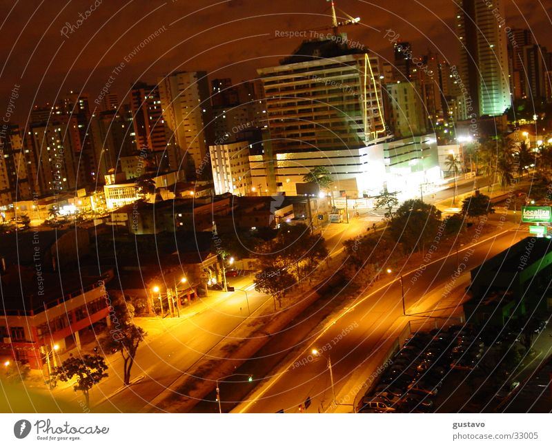 nocturnal city Town Night South America Street Landscape