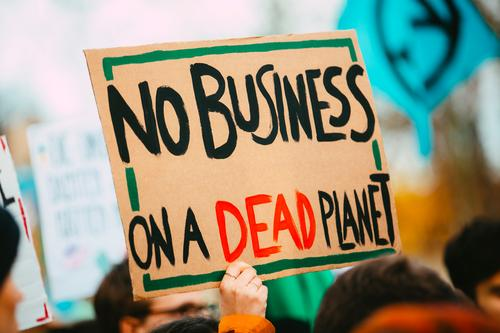 NO BUSINESS ON A DEAD PLANET Lifestyle Party Event Parenting Education Science & Research Adult Education Economy Technology Youth (Young adults) Adults Group