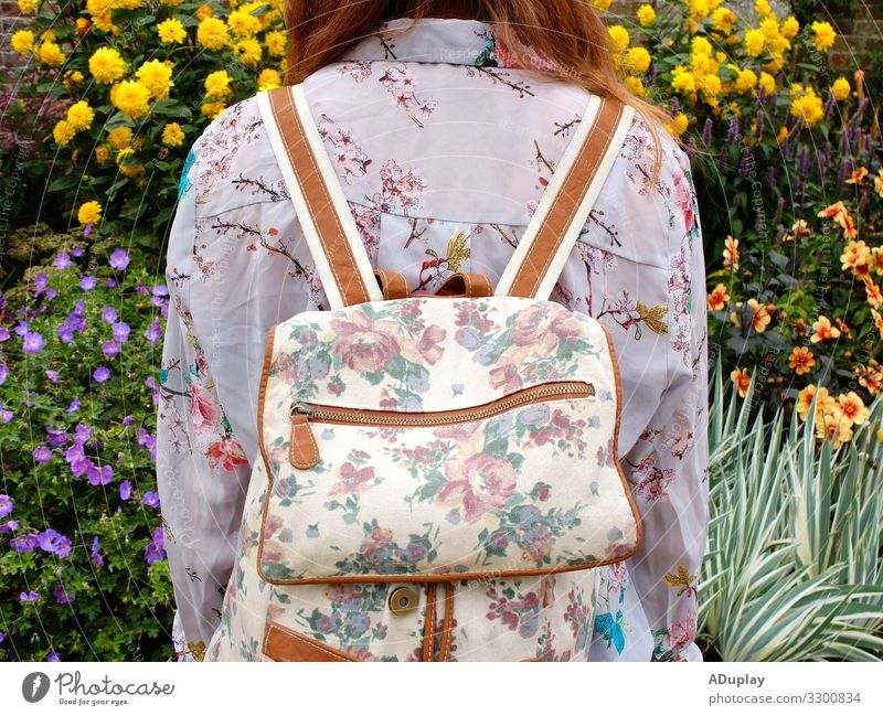 Floral upon floral Woman Human being Vacation & Travel Youth (Young adults) Young woman Summer Plant Green Landscape Red Sun Flower Joy Adults Life Yellow