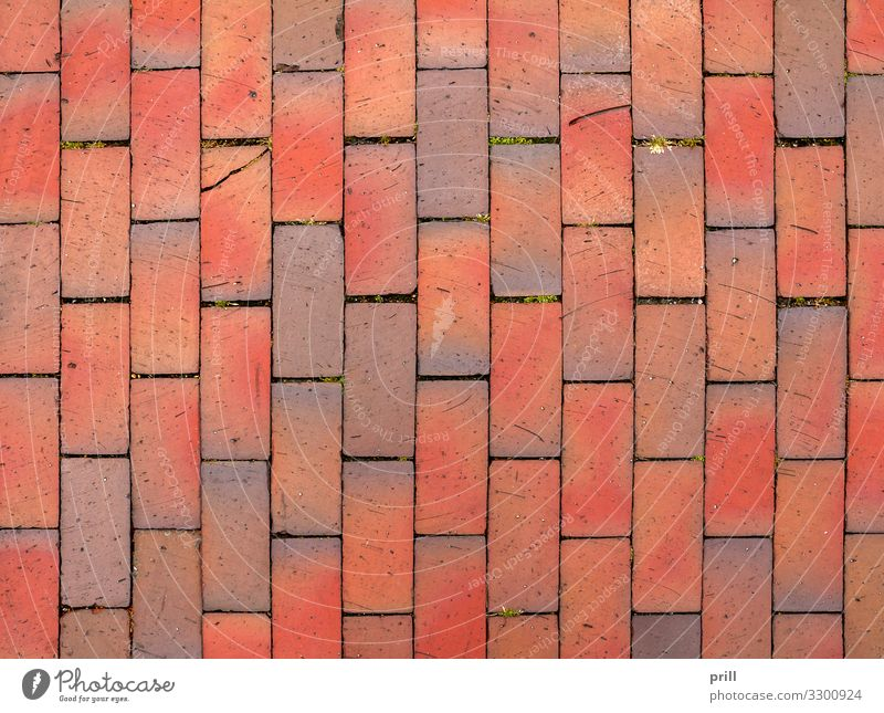 red cobblestone background Stone Brick Together Brown Red paving stone clay bricks Tile full-frame image reason Background picture Seam Stitching tight