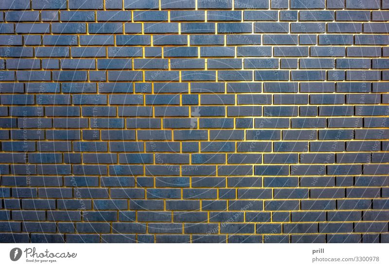 golden gaps Manmade structures Building Architecture Wall (barrier) Wall (building) Facade Metal Brick Glittering Dark Brick wall Seam Connection Gold Stitching