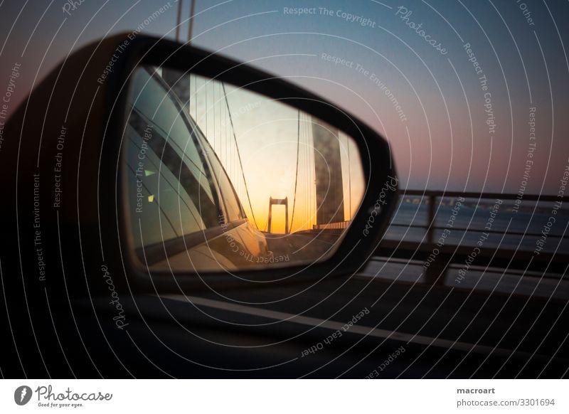 retrospect Mirror Rear view mirror Memory Car road Appearance Speed Motoring arrive Approach road wind Main street Sky Window side Logistics Passenger traffic