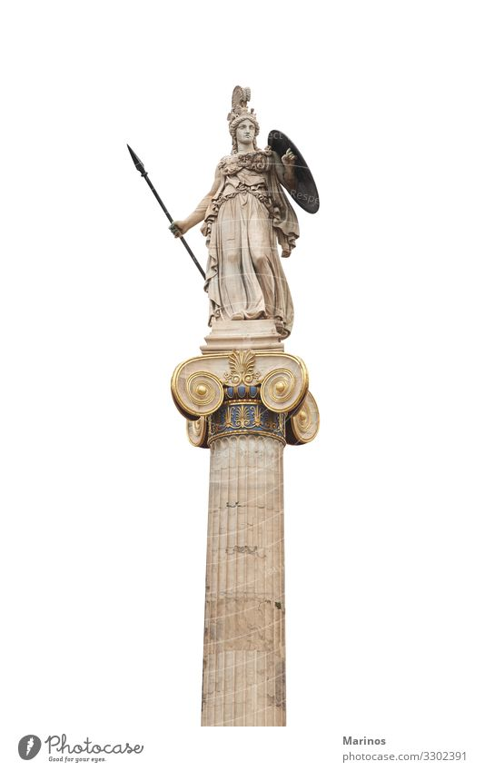 Ancient Greek god Athena. Vacation & Travel Science & Research School Academic studies Art Culture Places Building Architecture Monument Education Mythology