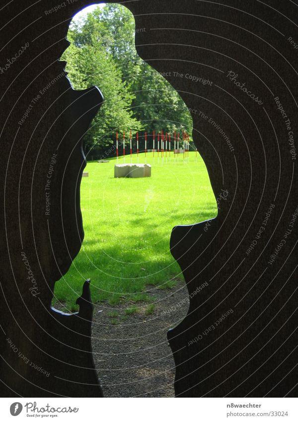 Human being Sun Green Meadow Park Art Work of art Profile Ancestors Projection