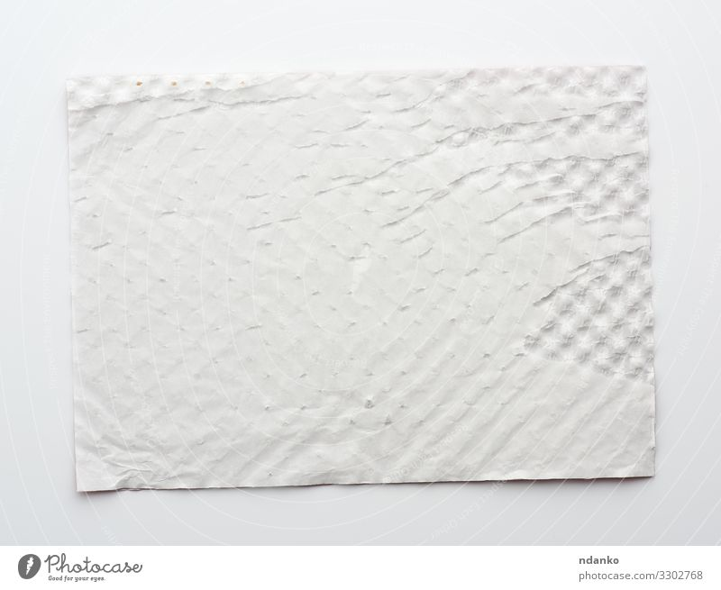 rectangular white sheet of paper Design Decoration Craft (trade) Paper Packaging Natural Retro Clean Soft White Colour backdrop background Blank Cardboard