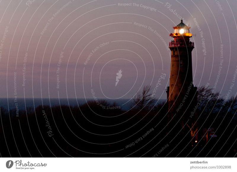 Lighthouse on Rügen Evening Arkona Village Dark Colour Play of colours Color gradient Fishing village Island Cap Arcona Coast Coastal patrol Landscape