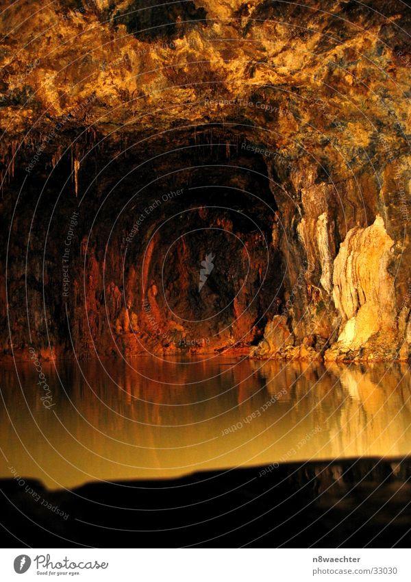 Water Beautiful Dark Uniqueness Cave Underground Thuringia Stalactite