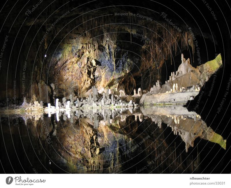 Water Beautiful Dark Uniqueness Cave Underground Stalactite