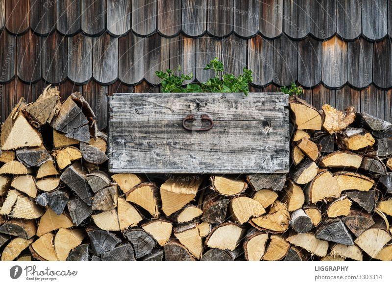 Wood before the hut!!! Saw Axe Environment Sun Bad weather Tree Old Moody Wooden hut Hut Heat Alpine hut Warmth Vegetable Harvest Austria