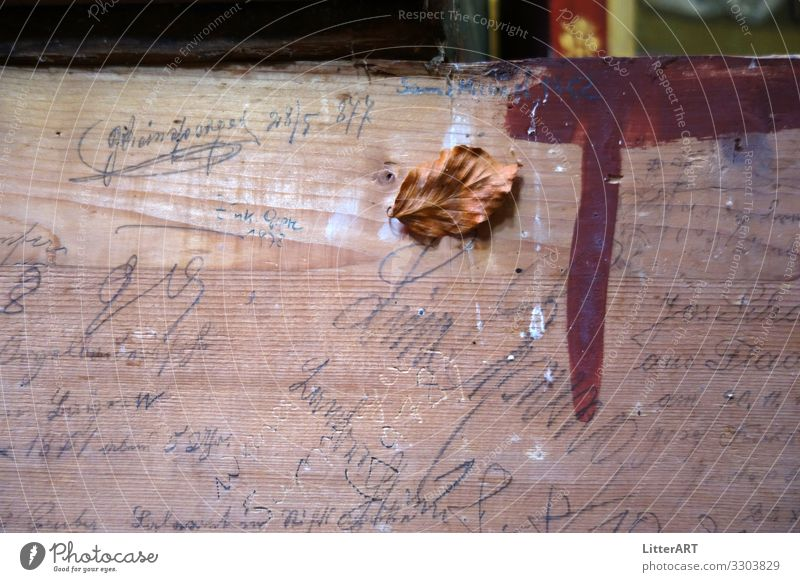 PERISHABILITY . VANITAS . VANITY Art Work of art Painting and drawing (object) Wood Sign Characters Digits and numbers Exceptional Historic Brown Belief