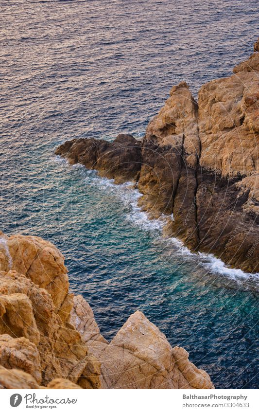 Rocky coast (Mediterranean) Vacation & Travel Tourism Summer Summer vacation Ocean Island Waves Environment Nature Elements Water Beautiful weather Warmth Coast