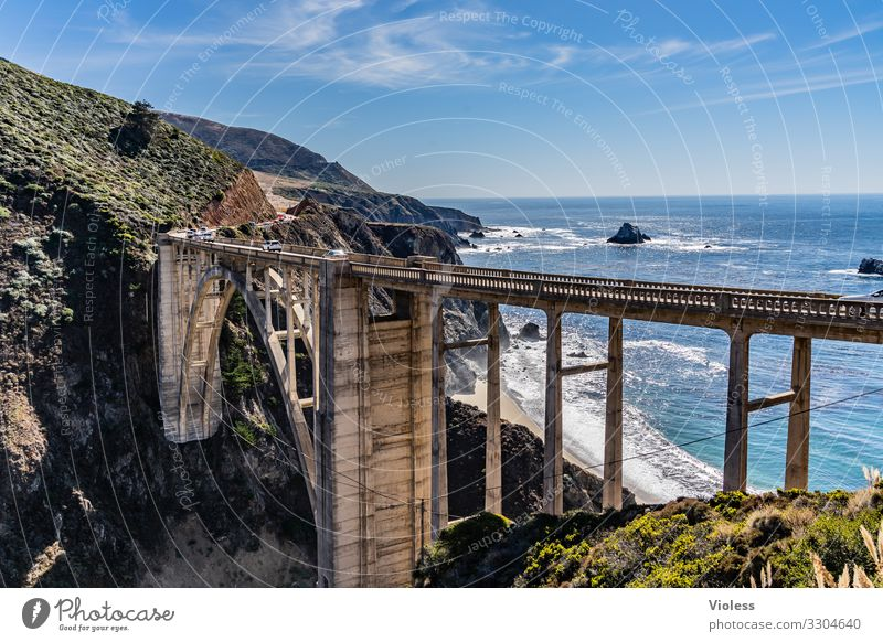 Anticipation |California, the way is the goal USA Sheet ribs San Francisco Manmade structures Carmel Monterey Highway One big sur Arched bridge