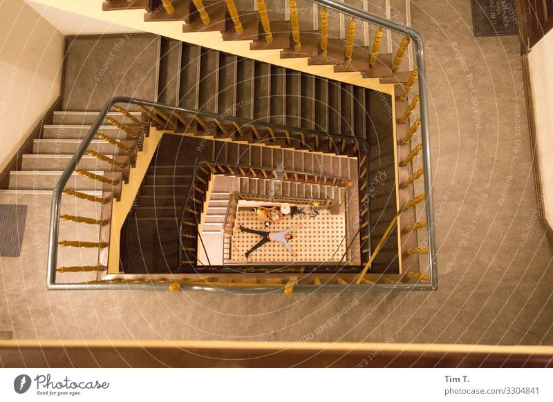 Staircases Human being Masculine Man Adults Body 1 45 - 60 years Punk Berlin Friedrichshain Town Capital city Downtown Old town House (Residential Structure)