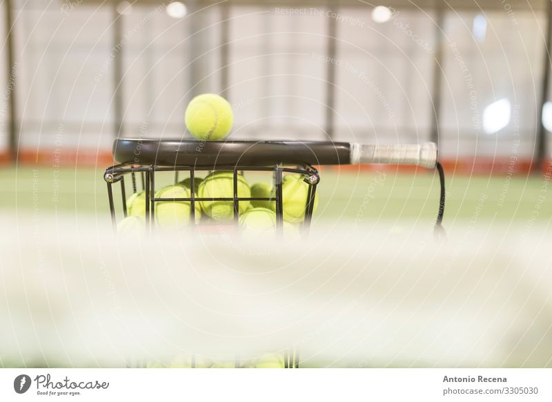 Paddle tennis rackets, balls and basket in court Life Sports Ball Fitness paddle tennis padel Still Life Object photography Racket Court building Playing field
