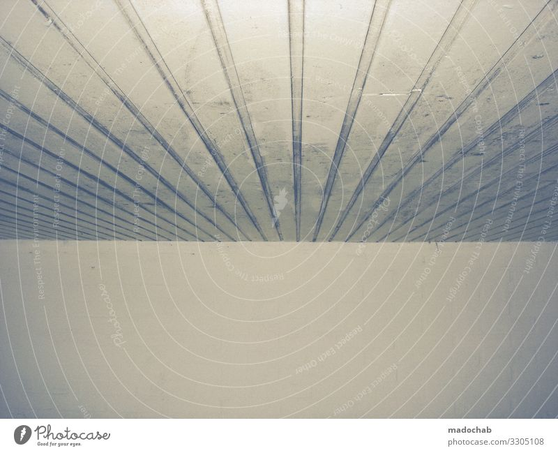 Lined ceiling with wall - Graphic lines trash on muted colours graphically Pattern Central perspective Wall (building) Blanket trishig Structures and shapes