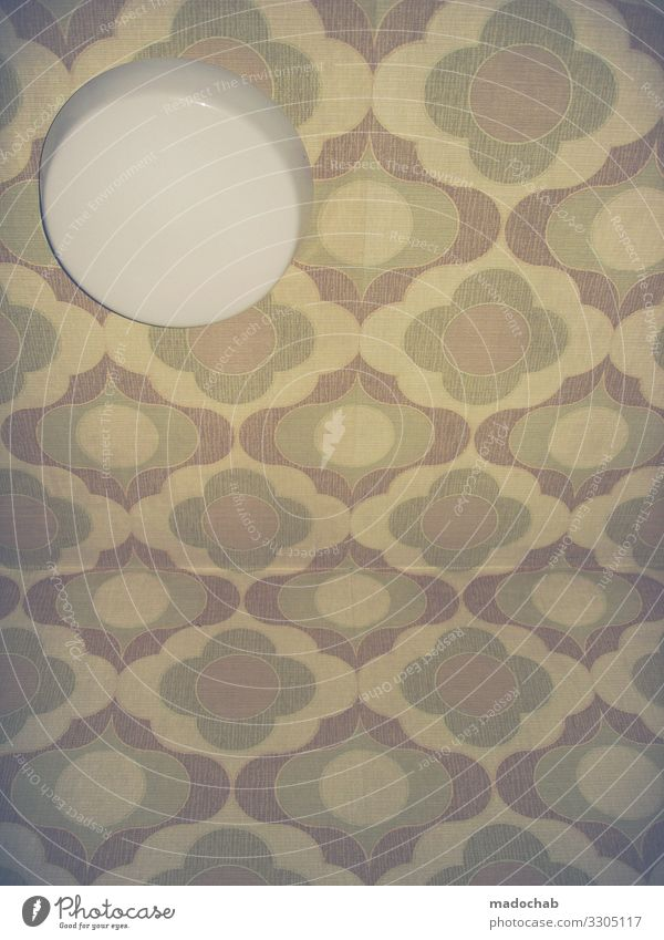 In the eye of the beholder Wallpaper Retro 70ies 1970s Modern Seventies Wallpaper pattern Decoration Structures and shapes Design Interior shot Detail