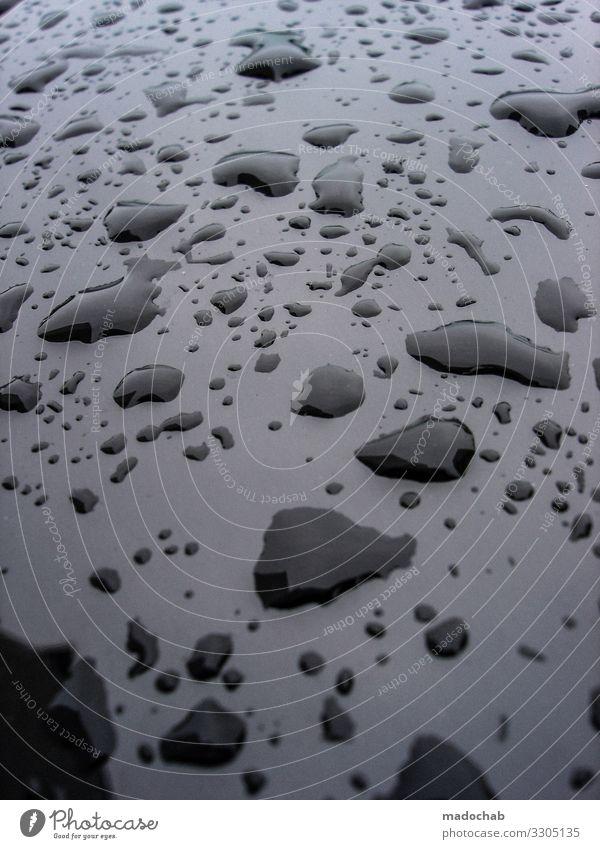 drips Bad weather Rain Esthetic Elegant Wet Black Bizarre Uniqueness Climate Network Arrangement Perspective Symmetry Drops of water Puddle Water Colour photo