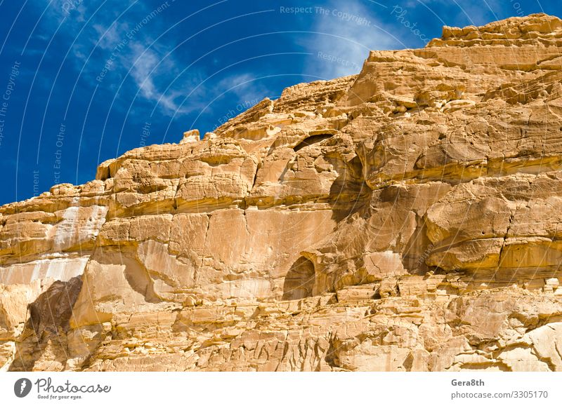 high rocky mountains in canyon in Egypt Dahab South Sinai Exotic Vacation & Travel Tourism Summer Mountain Nature Landscape Sky Warmth Rock Canyon Stone Bright